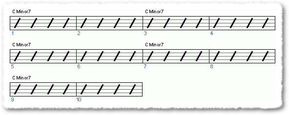 Groove from Shed Those Minor 7 Arpeggios