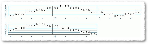 Exercises #1c In A Min/Maj Pentatonic