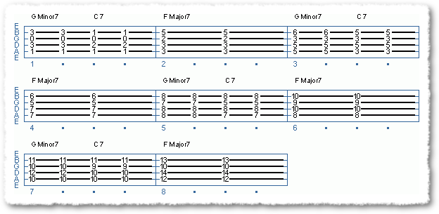 Two-five-one Jazz Chord Exercises - Page 2