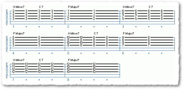 Two-five-one Jazz Chord Exercises - Page 3