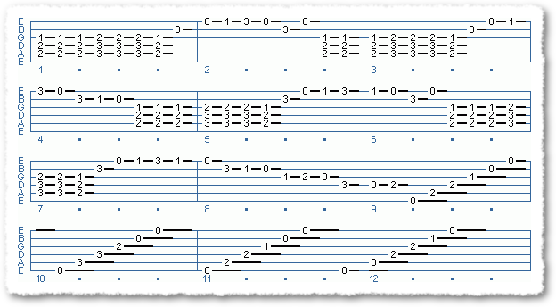 A Simple Flamenco Like Song