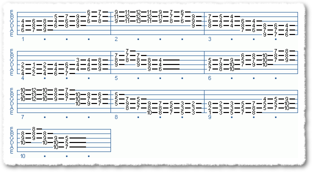 EXTENDED CHORD SCALE FORMS #2 IN TEMPO - Page 10