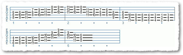 EXTENDED CHORD SCALE FORMS #2 IN TEMPO - Page 11