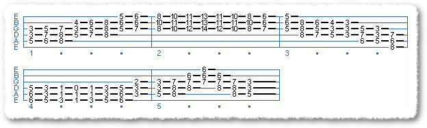 EXTENDED CHORD SCALE FORMS #2 IN TEMPO - Page 6