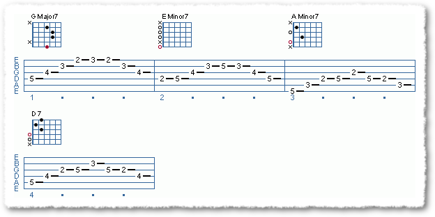 Arpeggios Over Chord Sequence