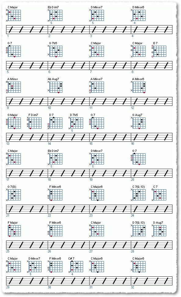 a basic jazz ballad chock-full-o-chords