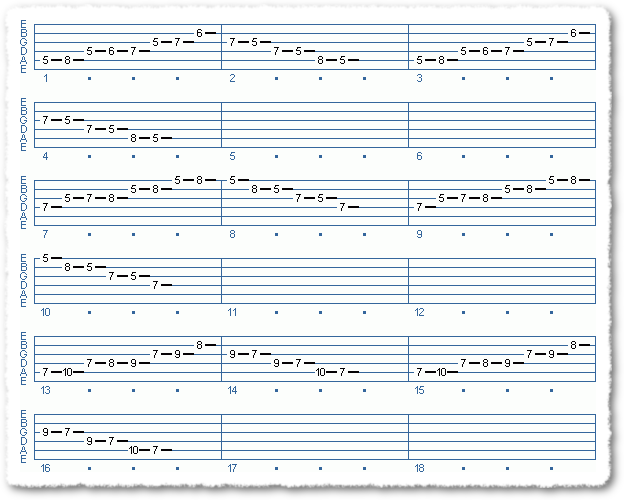 Main Sequence from Jazzing Minor Pentatonics - Page 2