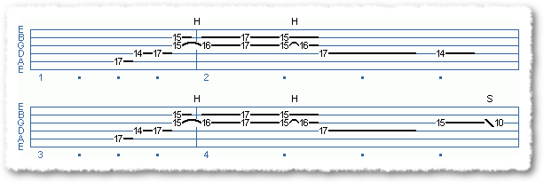 Main Sequence from Wes Montgomery Type Blues Licks