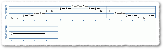 Main Sequence from Using the Major Pentatonic Scale