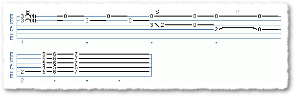 Main Sequence from blues endings in E