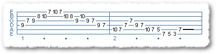 Main Sequence from Eric Johnson-type Licks