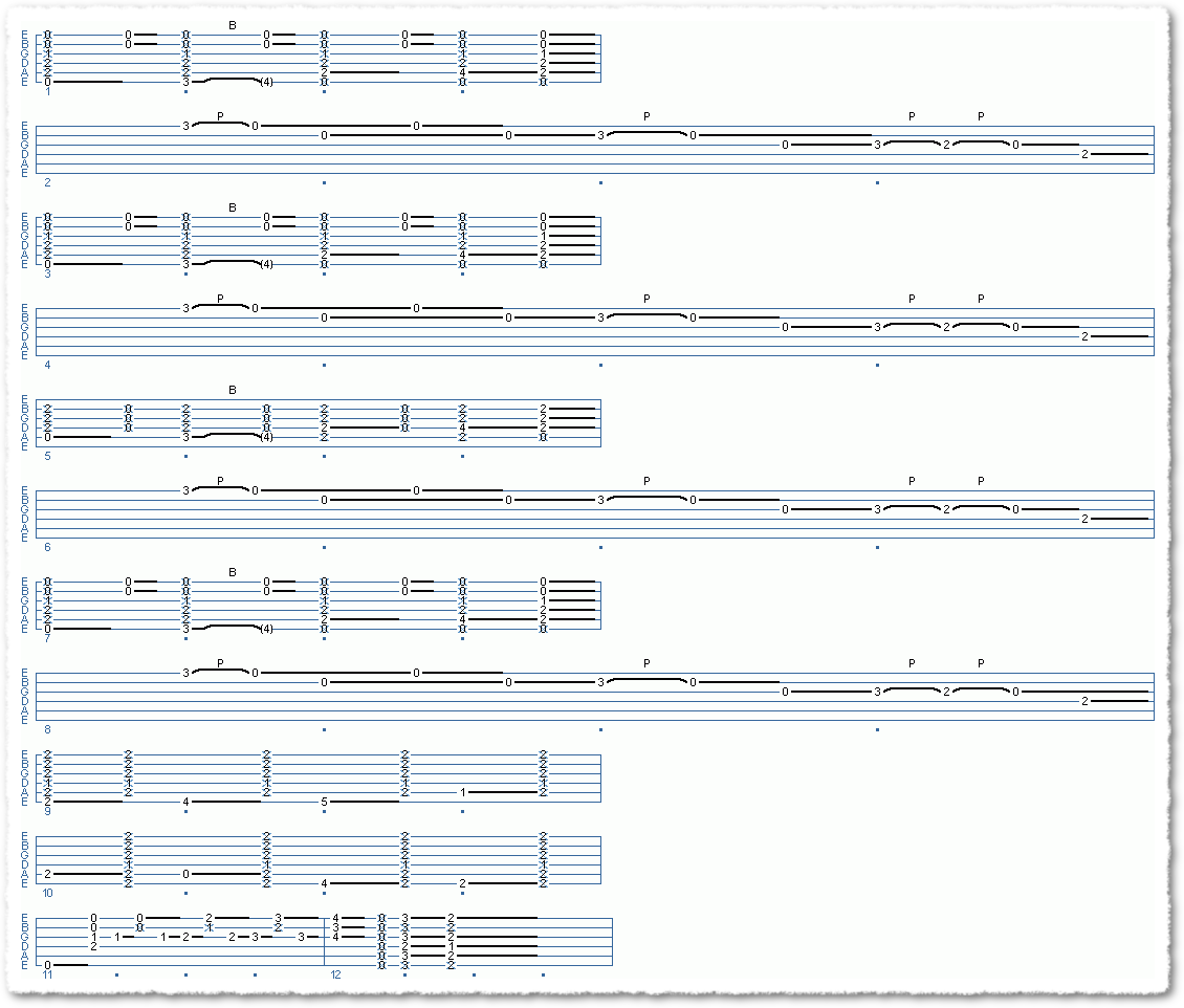 Main Sequence from Some SRV Like Playin'