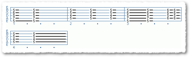 Main Sequence from Blues And Rock Scale Options