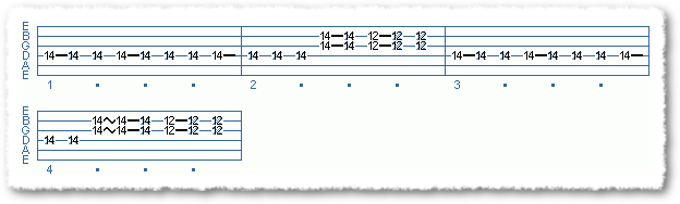 Main Sequence from Funk Comping Patterns in E