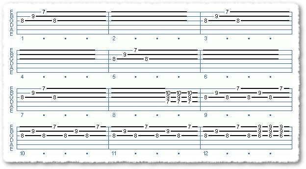 2nd Sequence from Open-String Power Chords