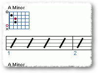 Using the A minor chord