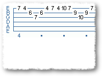 Arpeggio Sequence Using Sweep Picking