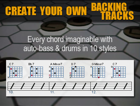 Build your own guitar backing tracks