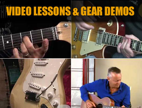 Watch guitar video lessons and product demos